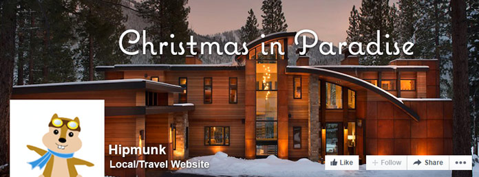 Christmas-in-Paradise Facebook campaign for Hipmunk