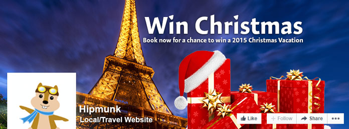 Win Christmas Facebook campaign for Hipmunk