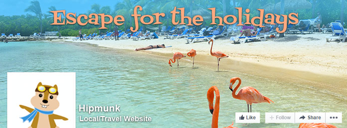 Escape-for-the-Holidays  Facebook campaign for Hipmunk