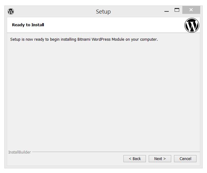 Bitnami's WordPress Ready to Install