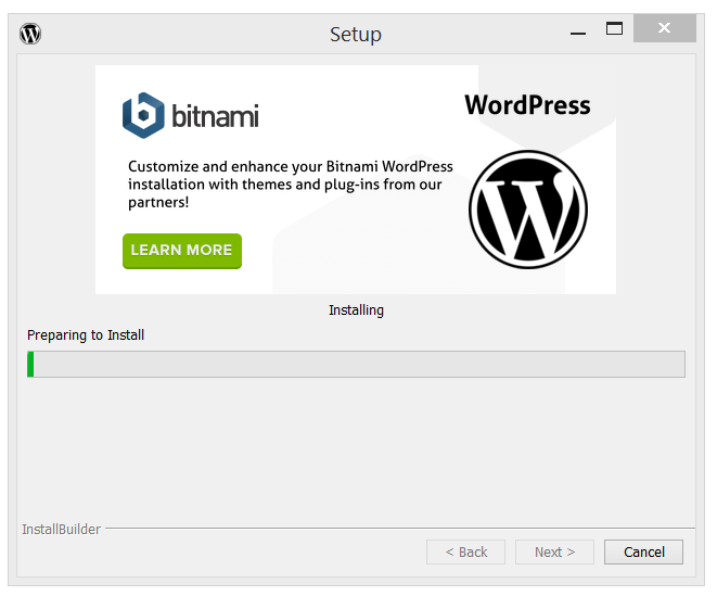 Bitnami's WordPress Installing