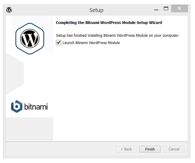 Bitnami's WordPress Launch Module