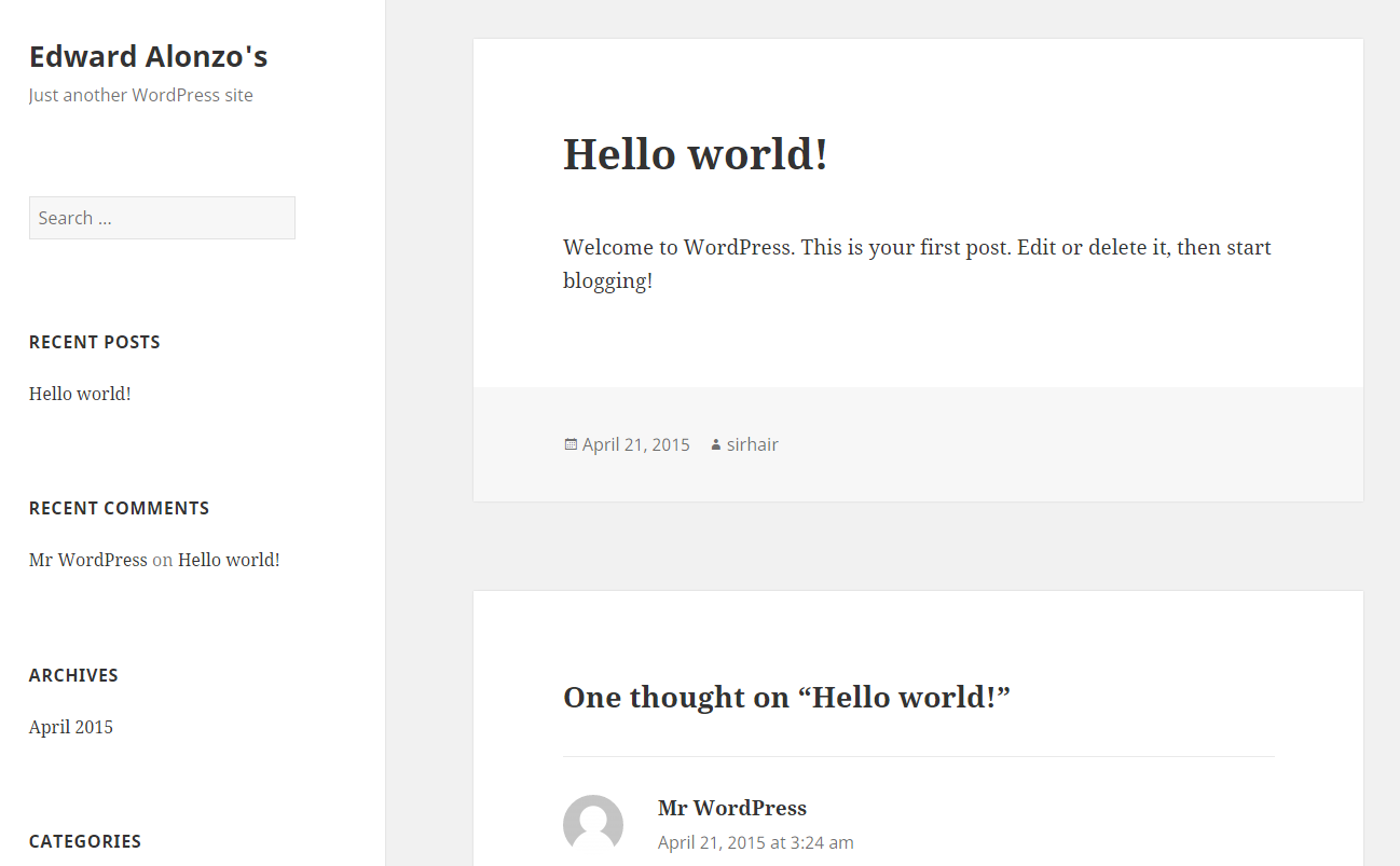 Your WordPress install