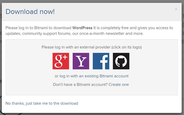 Bitnami social login