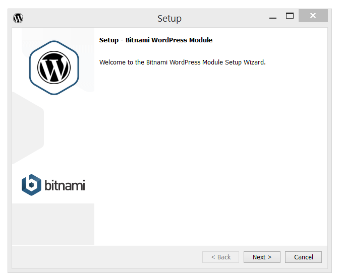 Bitnami's WordPress Setup page
