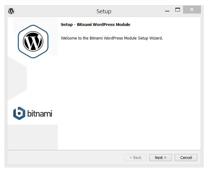Bitnami's WordPress Setup page
