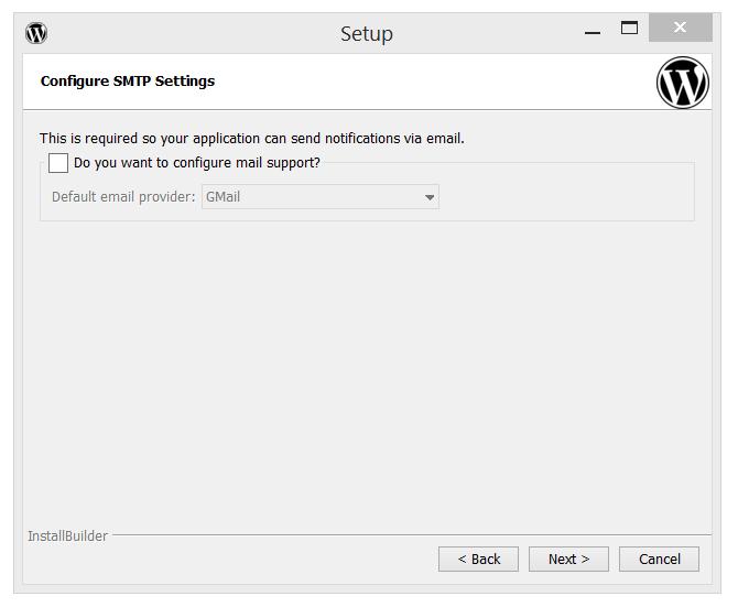 Bitnami's WordPress Configure SMTP