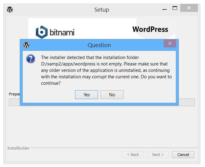 Bitnami Installation error