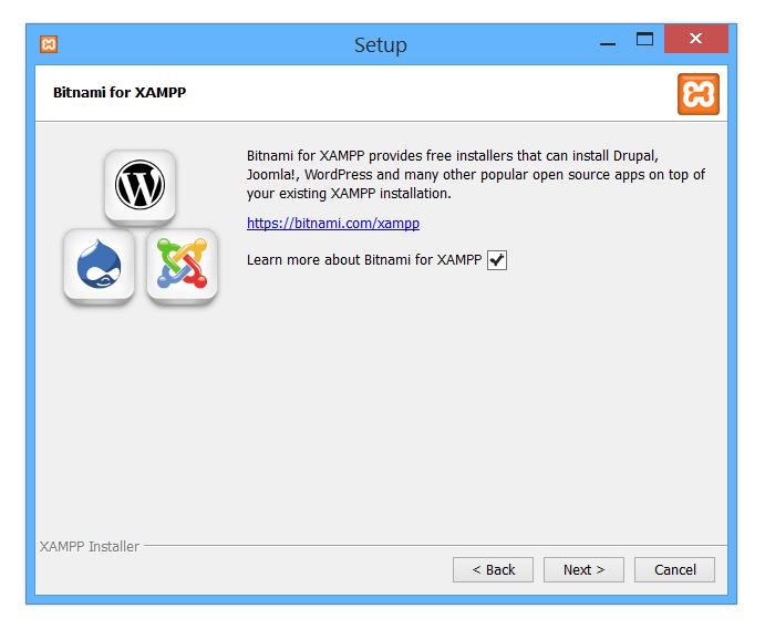 Bitnami for Xampp info screen